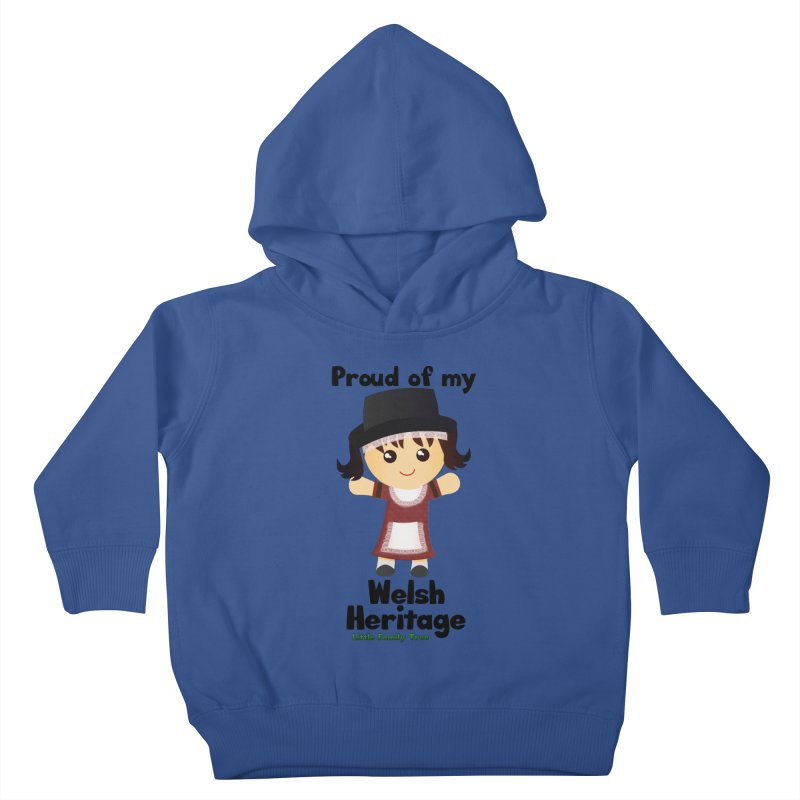 Welsh Heritage Girl Kids Toddler Pullover Hoody by Yellow Fork Tech's Shop