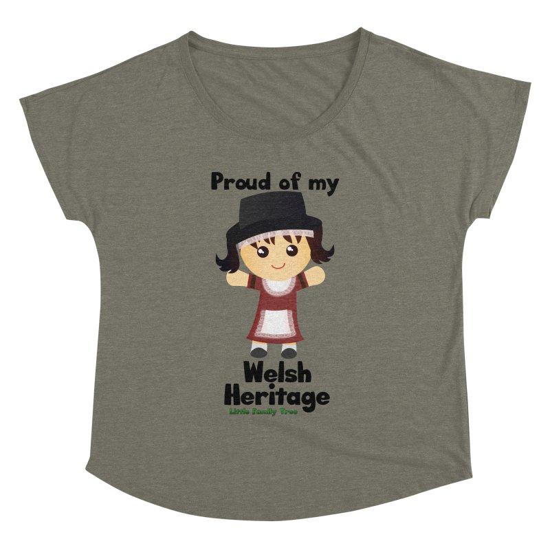 Welsh Heritage Girl Women's Dolman by Yellow Fork Tech's Shop
