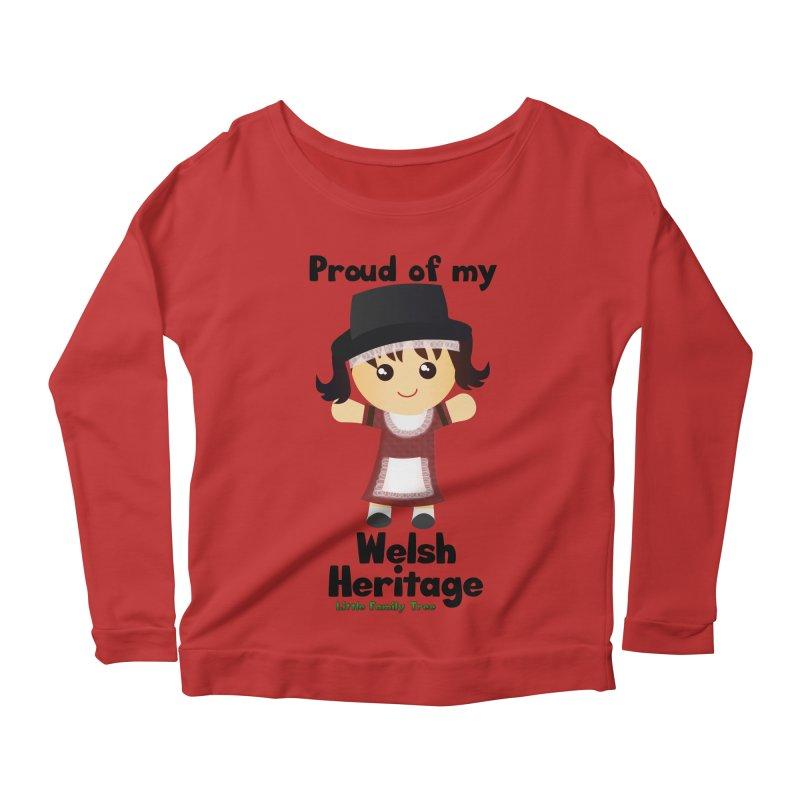 Welsh Heritage Girl Women's Longsleeve Scoopneck  by Yellow Fork Tech's Shop