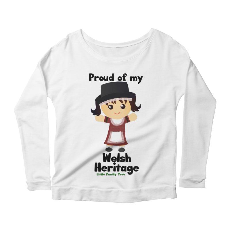 Welsh Heritage Girl Women's Longsleeve Scoopneck  by Yellow Fork Tech's Shop