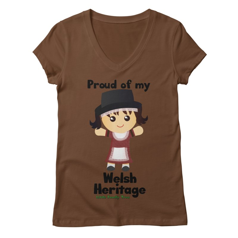 Welsh Heritage Girl Women's V-Neck by Yellow Fork Tech's Shop