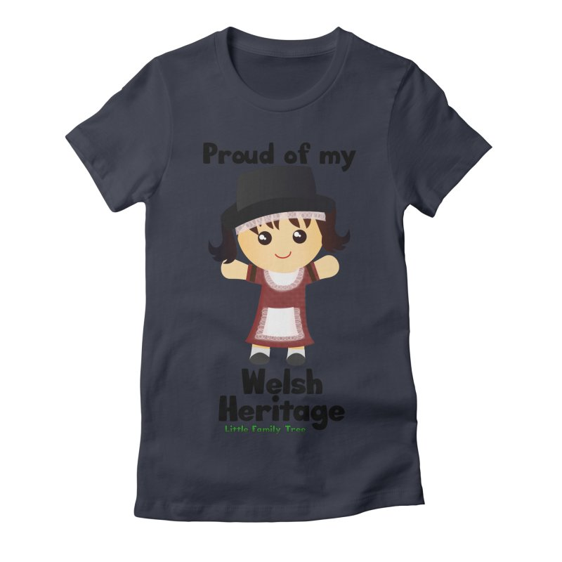 Welsh Heritage Girl Women's Fitted T-Shirt by Yellow Fork Tech's Shop