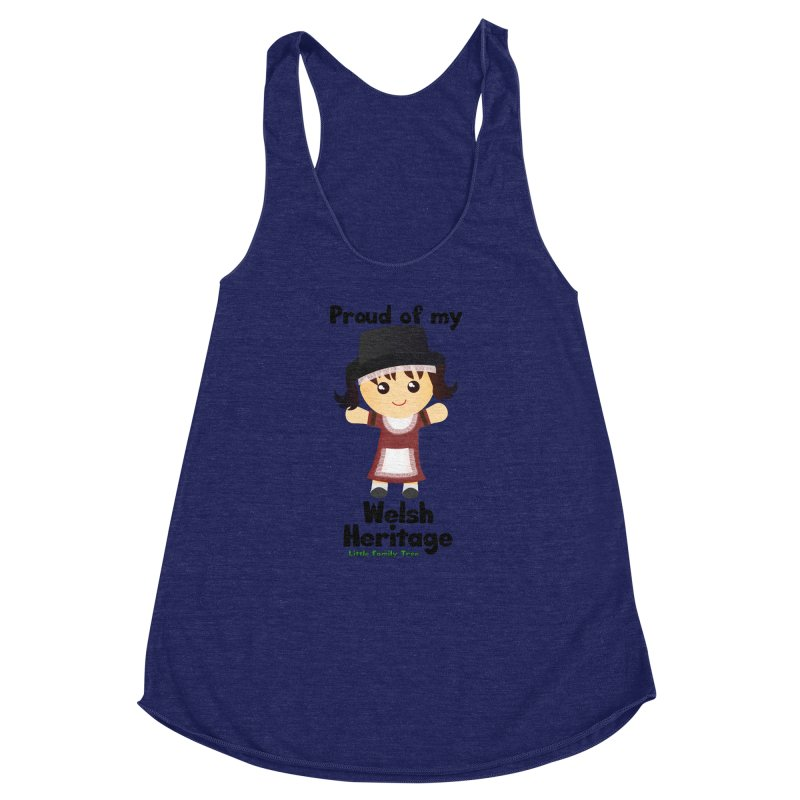 Welsh Heritage Girl Women's Racerback Triblend Tank by Yellow Fork Tech's Shop