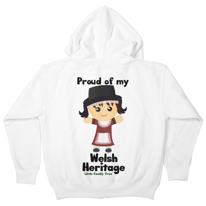 Welsh Heritage Girl Kids Zip-Up Hoody by Yellow Fork Tech's Shop