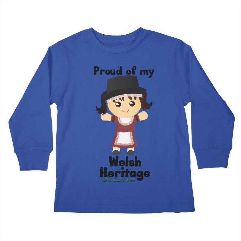 Welsh Heritage Girl Kids Longsleeve T-Shirt by Yellow Fork Tech's Shop
