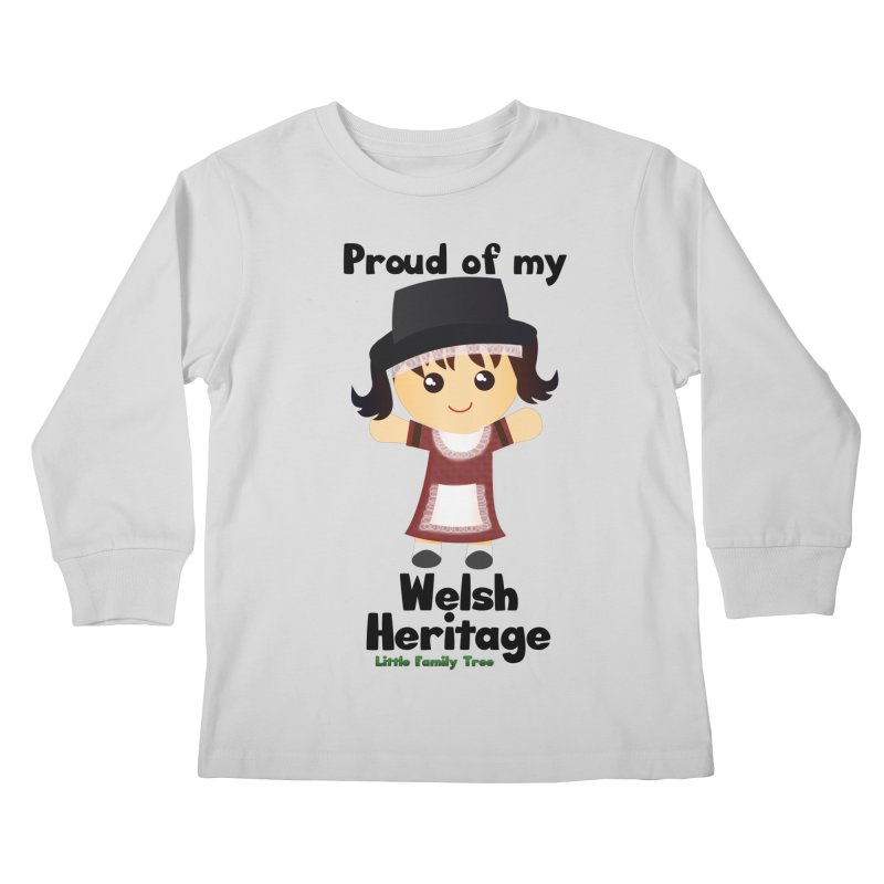 Welsh Heritage Girl Kids Longsleeve T-Shirt by Yellow Fork Tech's Shop