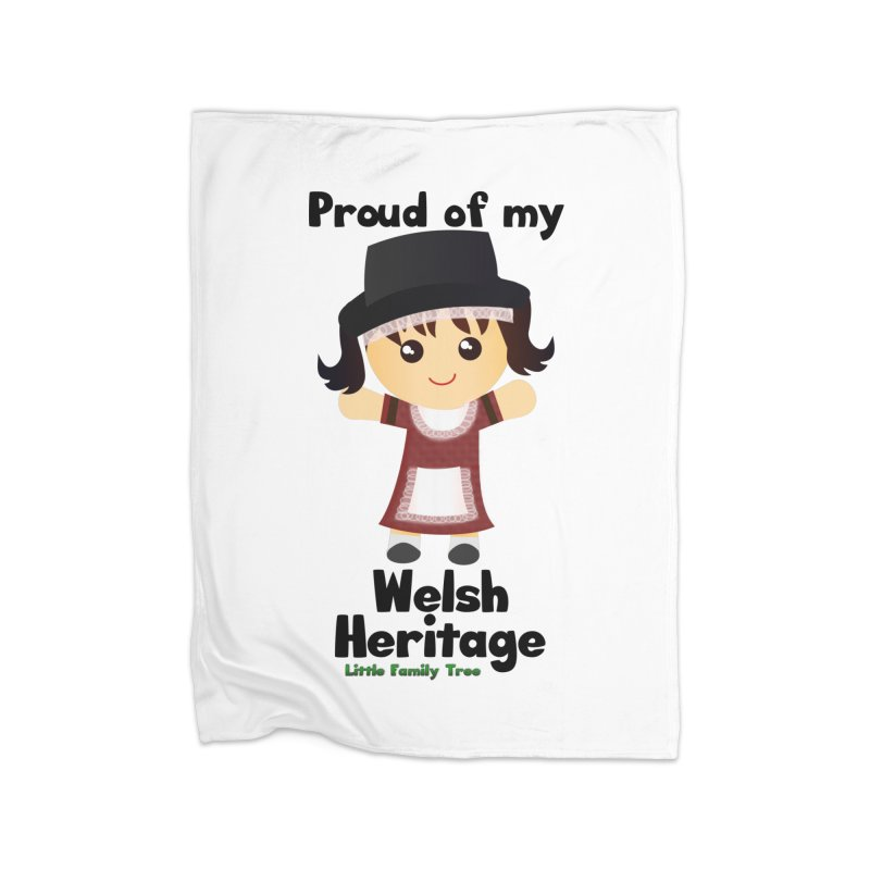 Welsh Heritage Girl Home Blanket by Yellow Fork Tech's Shop