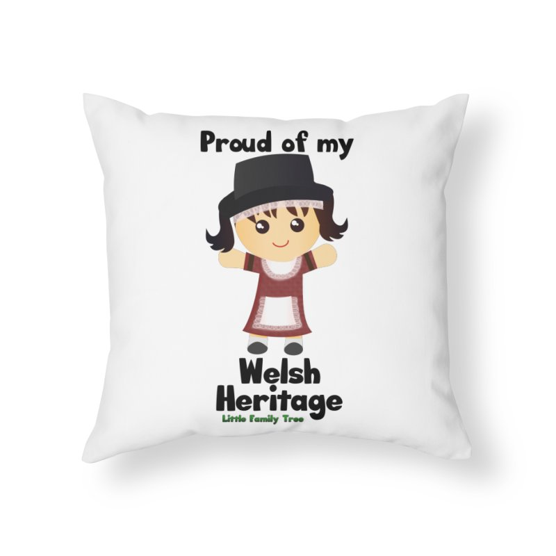 Welsh Heritage Girl Home Throw Pillow by Yellow Fork Tech's Shop