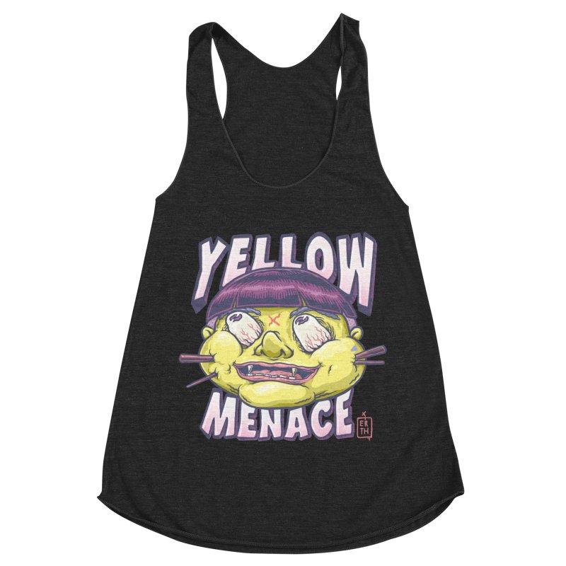 YellowMenace x ERTH Women's Racerback Triblend Tank by YellowMenace Shop