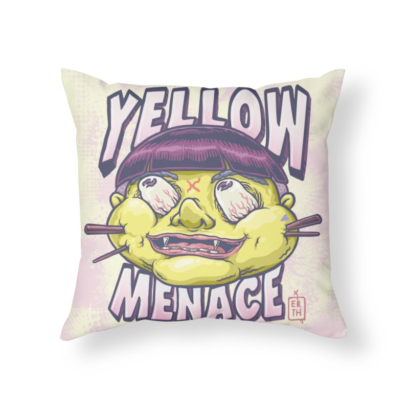 YellowMenace x ERTH Home Throw Pillow by YellowMenace Shop