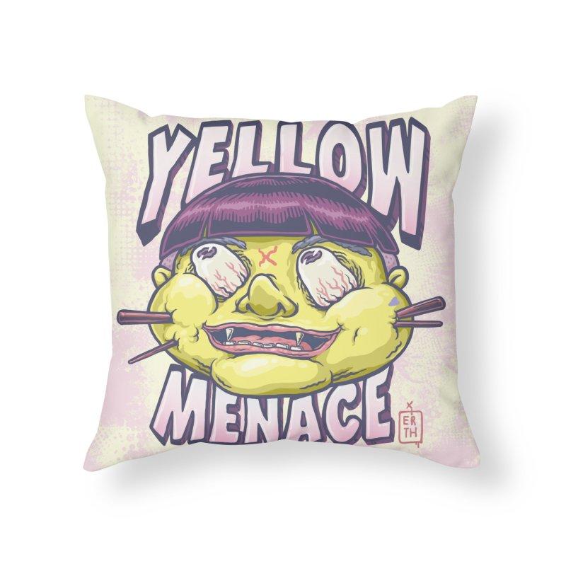 YellowMenace x ERTH Home Throw Pillow by YellowMenace Shop
