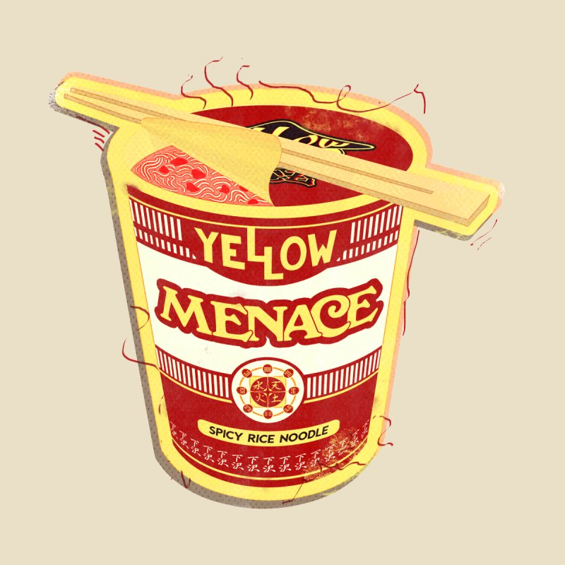 YM Cup Noodles: Campbells Home Fine Art Print by YellowMenace Shop