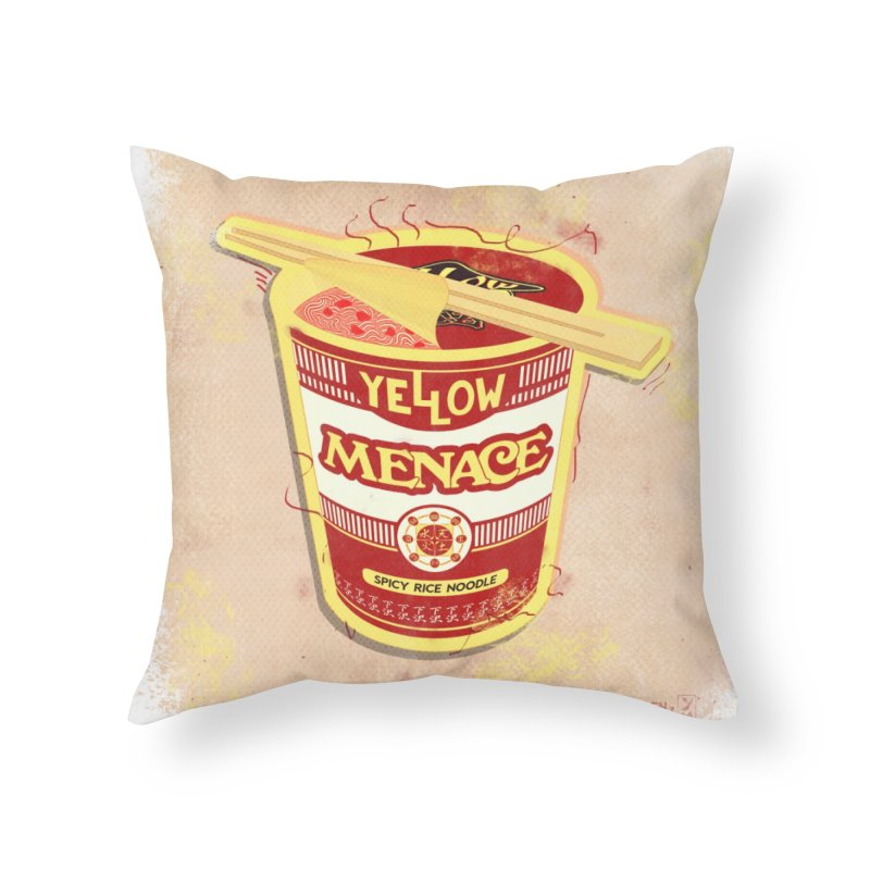 YM Cup Noodles: Campbells Home Throw Pillow by YellowMenace Shop