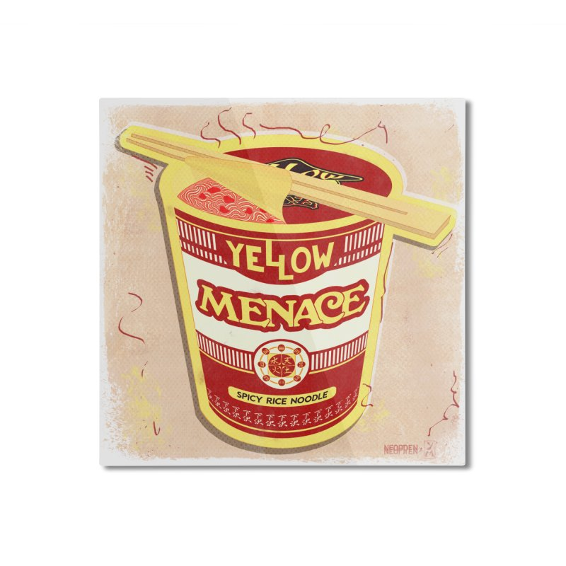 YM Cup Noodles: Campbells Home Mounted Aluminum Print by YellowMenace Shop