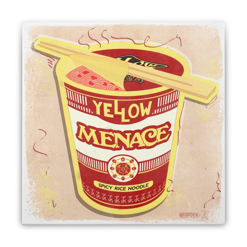 YM Cup Noodles: Campbells Home Stretched Canvas by YellowMenace Shop