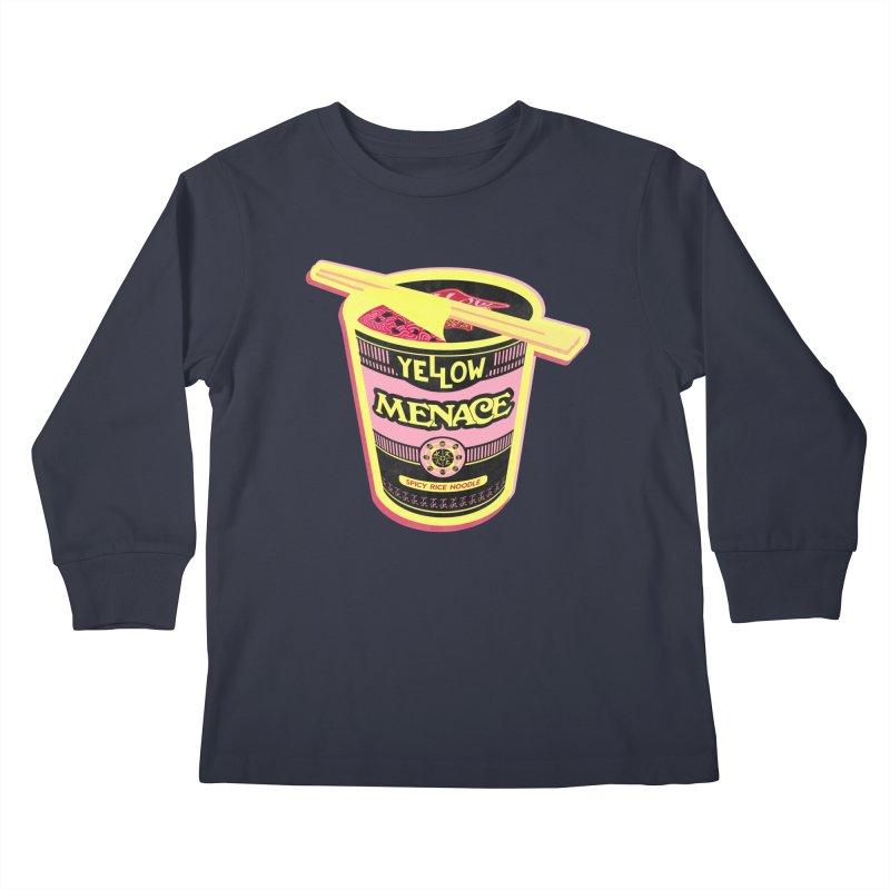 YM Cup Noodles: Cotton Candy Kids Longsleeve T-Shirt by YellowMenace Shop