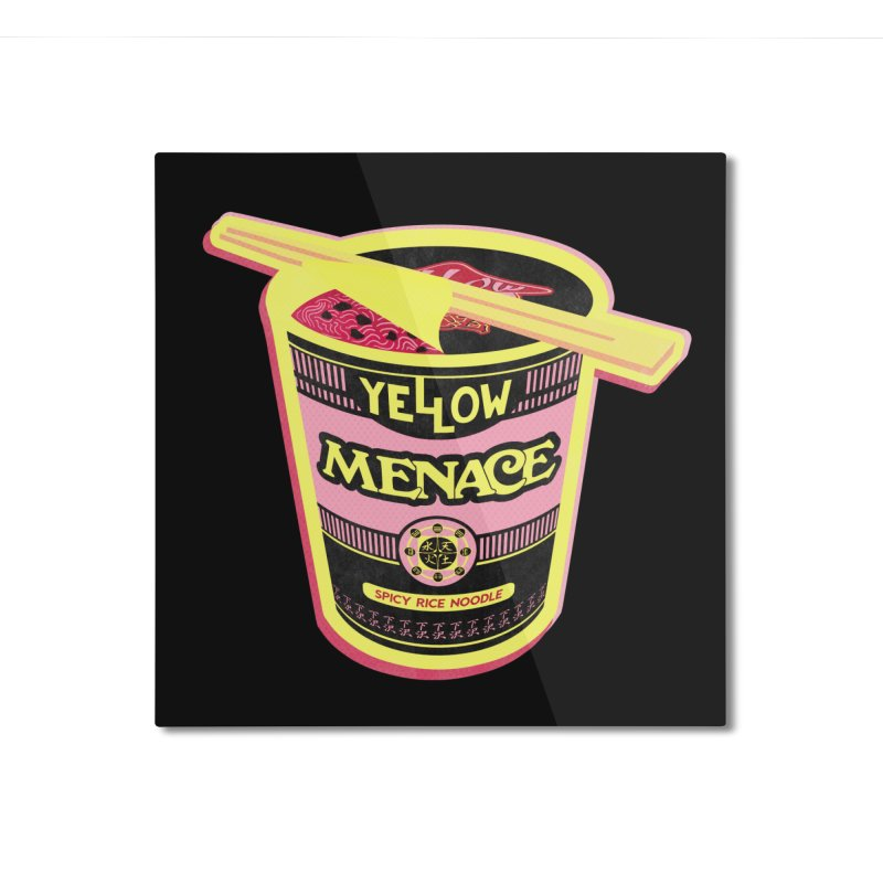 YM Cup Noodles: Cotton Candy Home Mounted Aluminum Print by YellowMenace Shop
