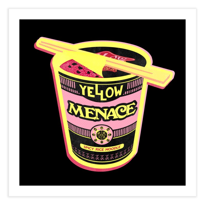 YM Cup Noodles: Cotton Candy Home Fine Art Print by YellowMenace Shop