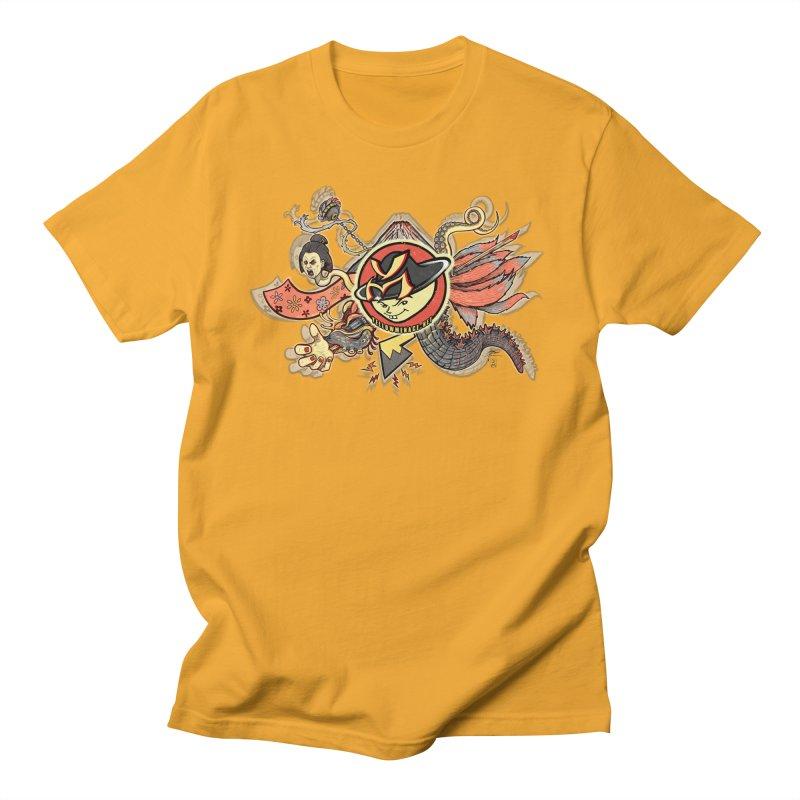 YM Japanese Tails Men's T-Shirt by YellowMenace Shop