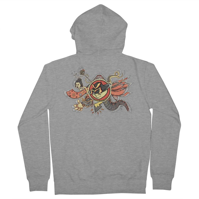 YM Japanese Tails Men's French Terry Zip-Up Hoody by YellowMenace Shop