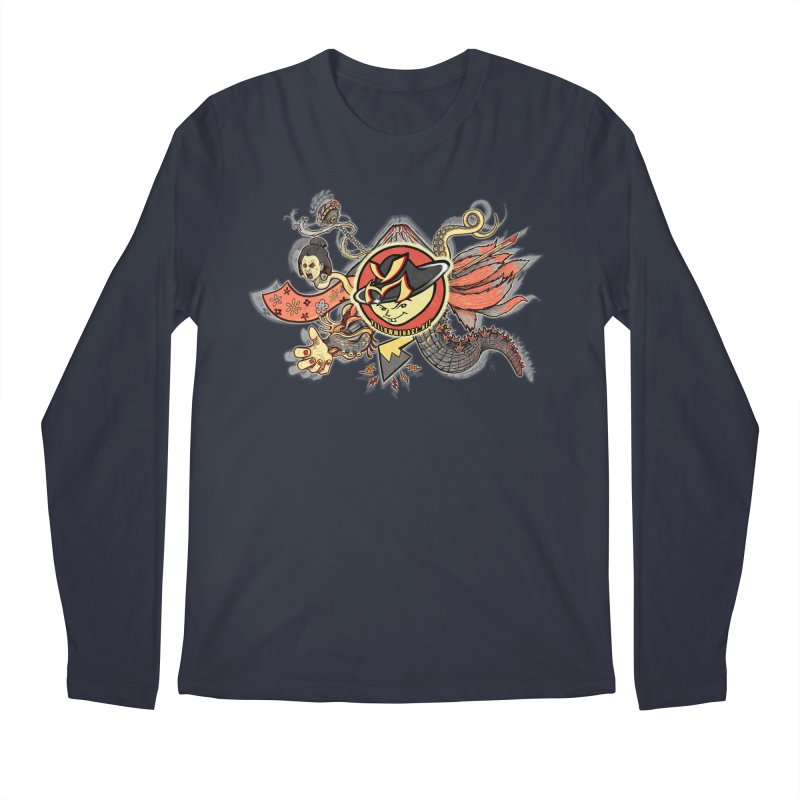 YM Japanese Tails Men's Longsleeve T-Shirt by YellowMenace Shop