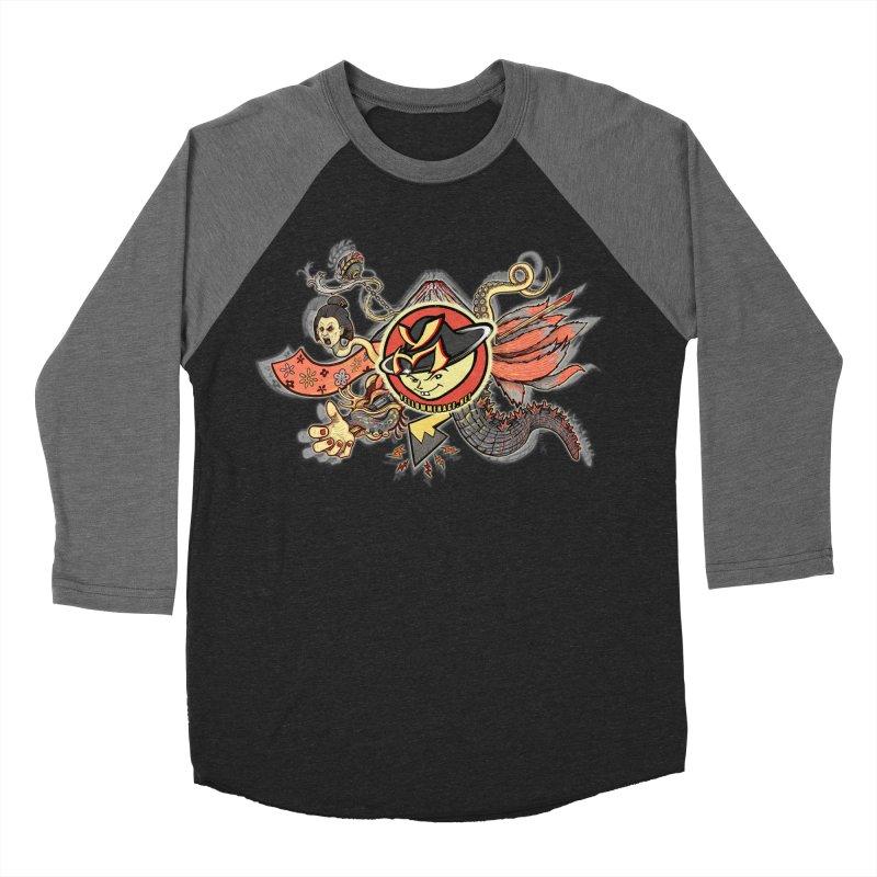 YM Japanese Tails Men's Baseball Triblend Longsleeve T-Shirt by YellowMenace Shop