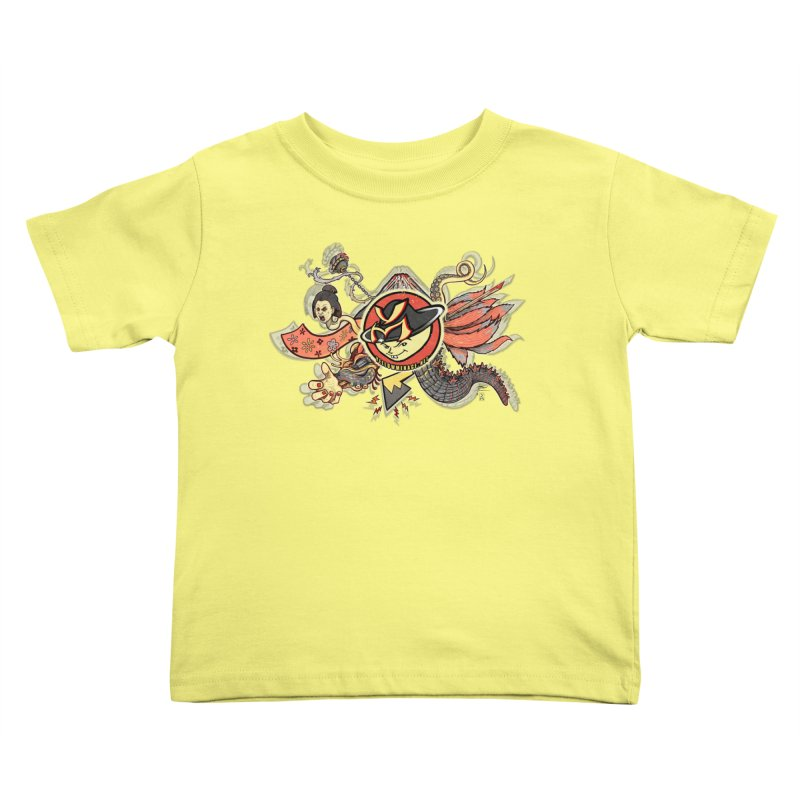 YM Japanese Tails Kids Toddler T-Shirt by YellowMenace Shop