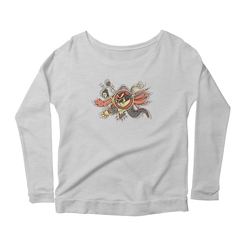 YM Japanese Tails Women's Scoop Neck Longsleeve T-Shirt by YellowMenace Shop
