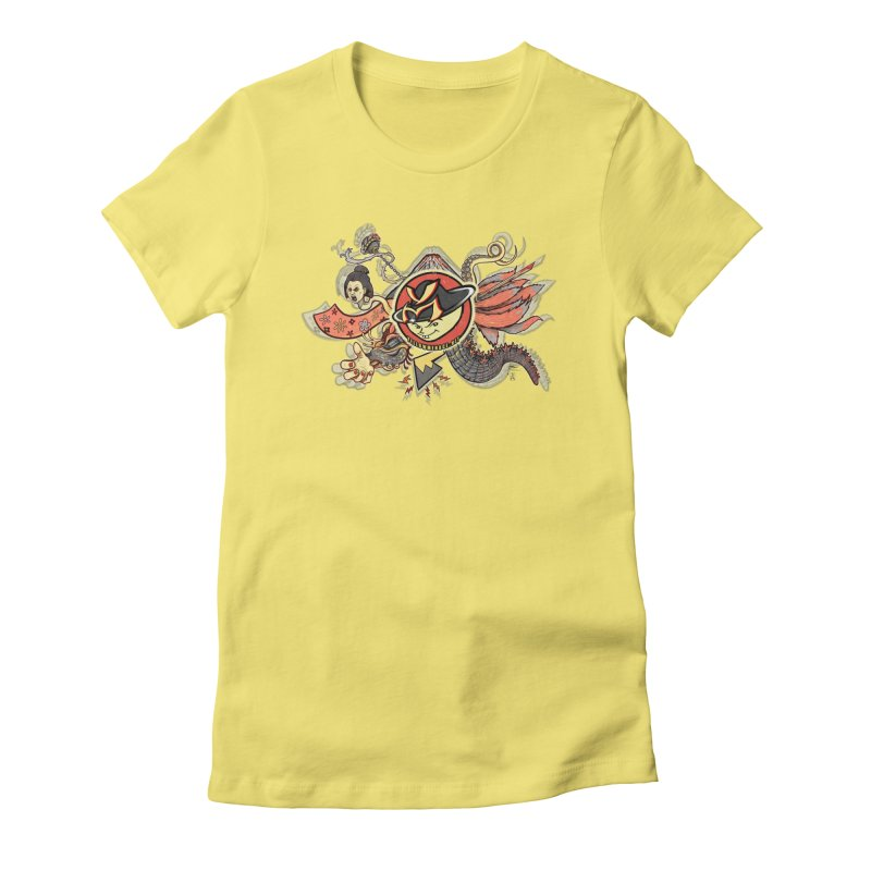 YM Japanese Tails Women's Fitted T-Shirt by YellowMenace Shop