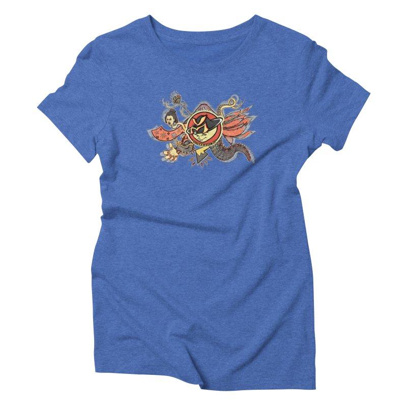 YM Japanese Tails Women's Triblend T-Shirt by YellowMenace Shop