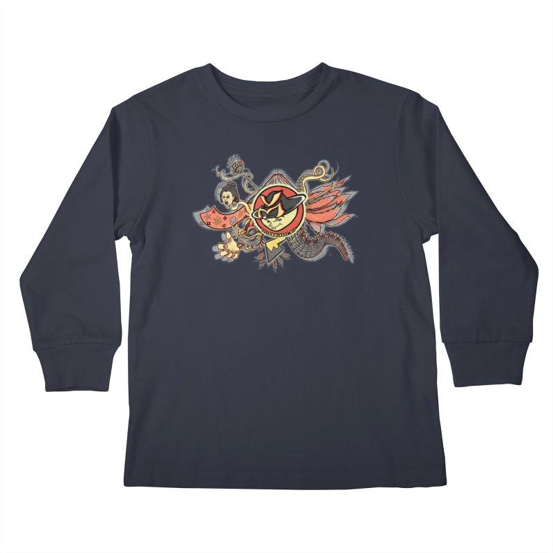 YM Japanese Tails Kids Longsleeve T-Shirt by YellowMenace Shop