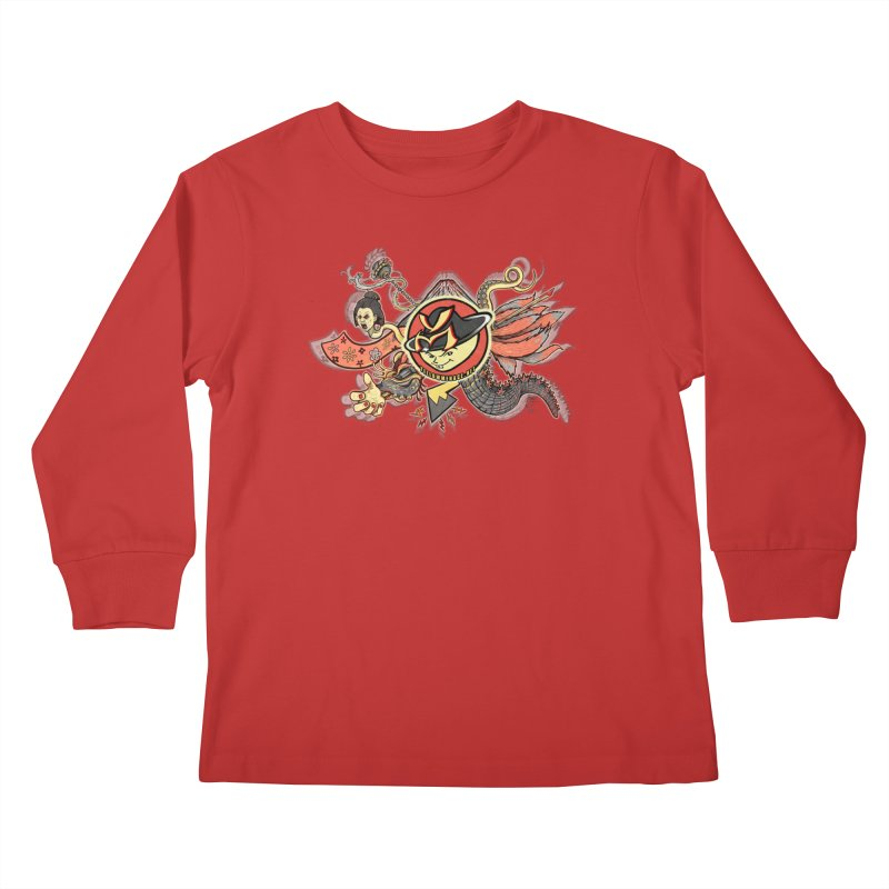YM Japanese Tails Kids Longsleeve T-Shirt by YellowMenace Shop
