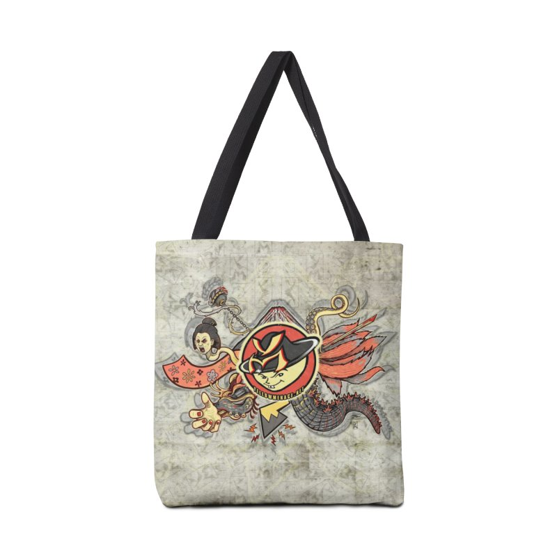 YM Japanese Tails Accessories Bag by YellowMenace Shop