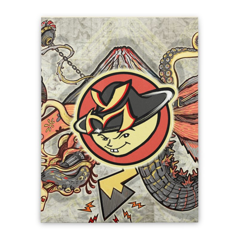YM Japanese Tails Home Stretched Canvas by YellowMenace Shop