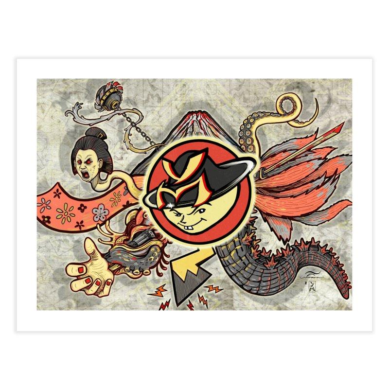 YM Japanese Tails Home Fine Art Print by YellowMenace Shop