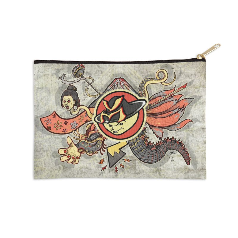 YM Japanese Tails Accessories Zip Pouch by YellowMenace Shop