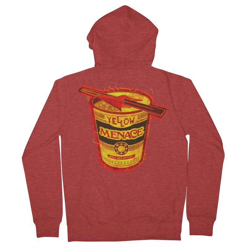 YM Noodles: Chinese Takeout Men's French Terry Zip-Up Hoody by YellowMenace Shop