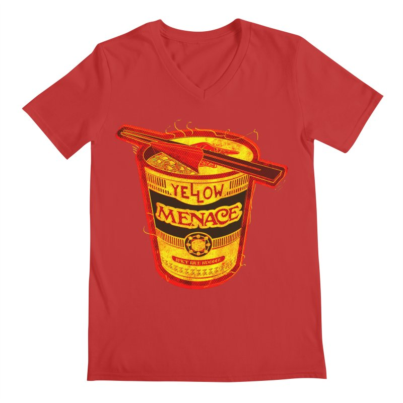 YM Noodles: Chinese Takeout Men's V-Neck by YellowMenace Shop