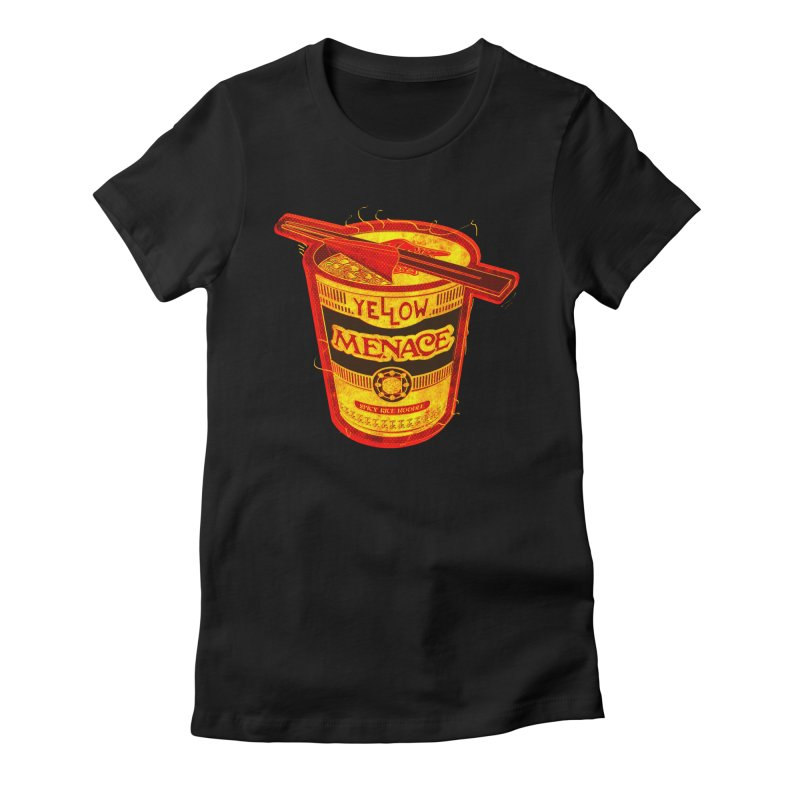 YM Noodles: Chinese Takeout Women's Fitted T-Shirt by YellowMenace Shop