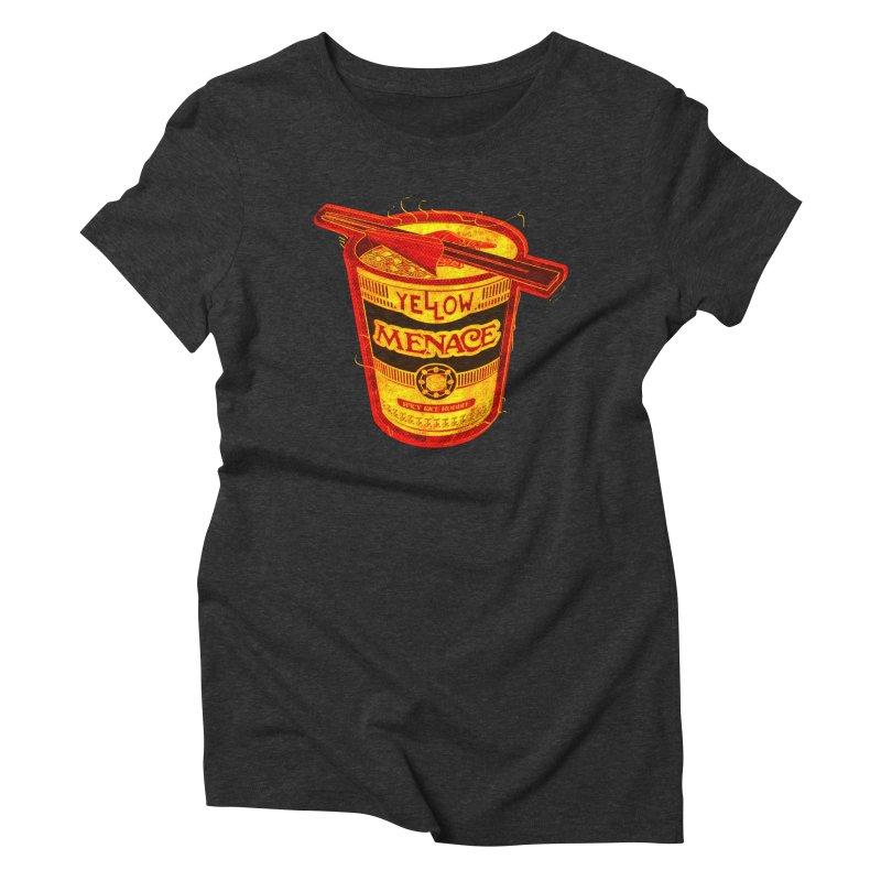 YM Noodles: Chinese Takeout Women's Triblend T-Shirt by YellowMenace Shop