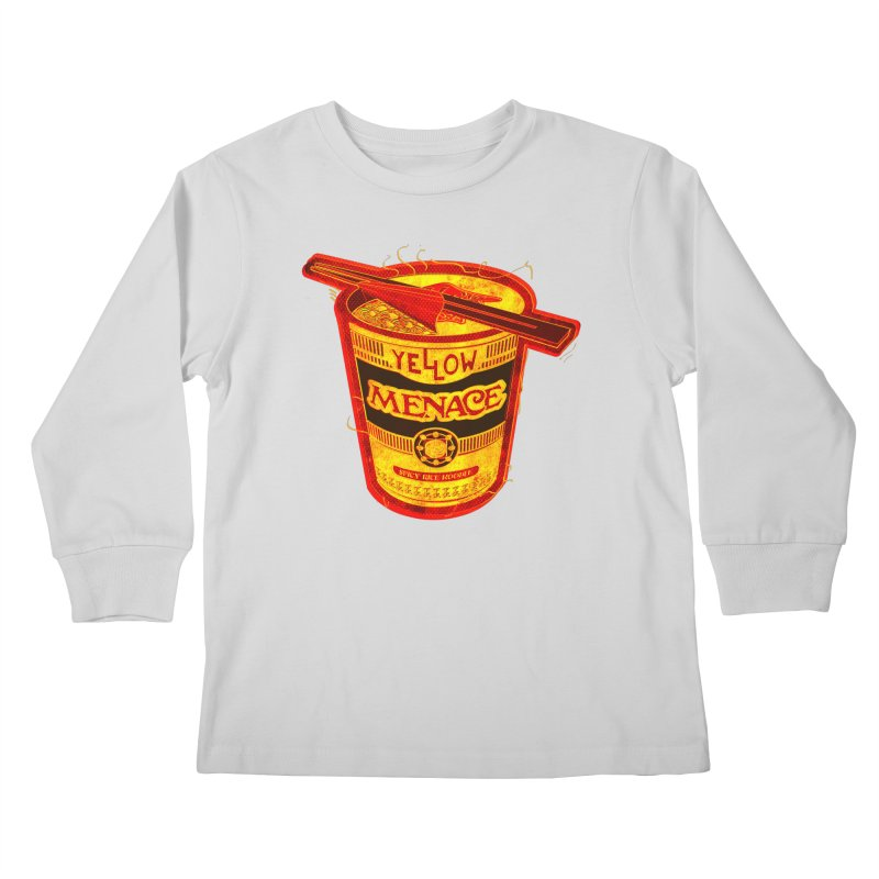 YM Noodles: Chinese Takeout Kids Longsleeve T-Shirt by YellowMenace Shop
