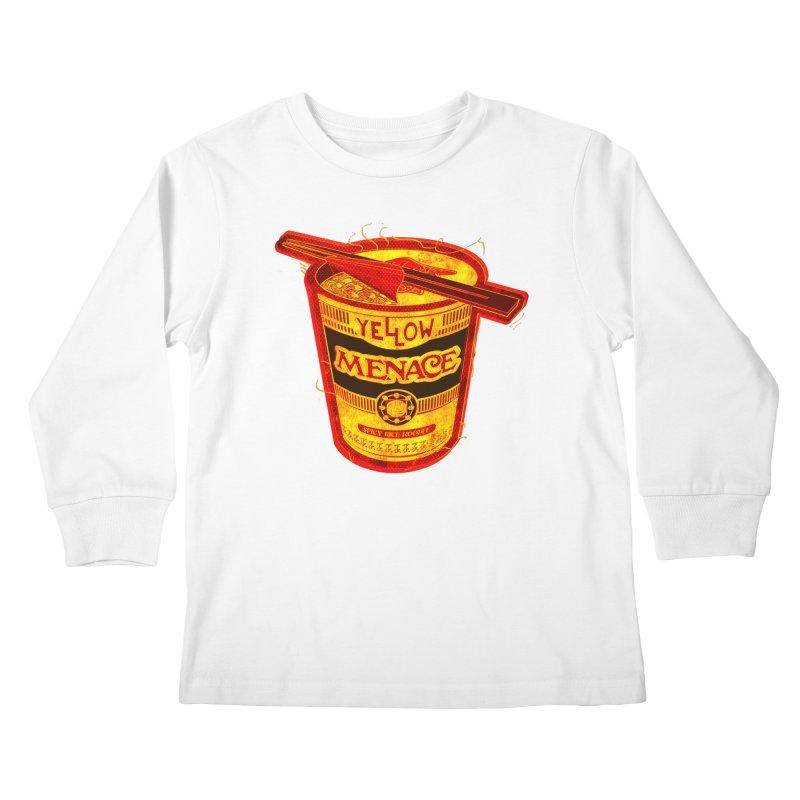 YM Noodles: Chinese Takeout Kids Longsleeve T-Shirt by YellowMenace Shop