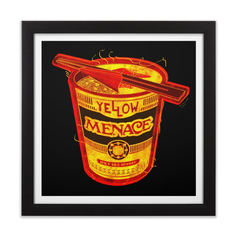 YM Noodles: Chinese Takeout Home Framed Fine Art Print by YellowMenace Shop