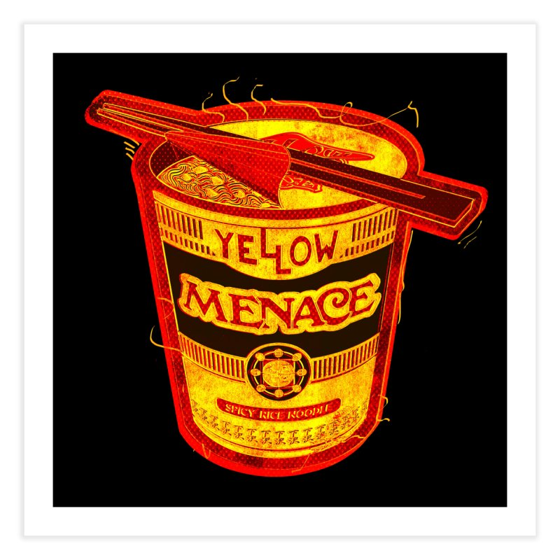 YM Noodles: Chinese Takeout Home Fine Art Print by YellowMenace Shop