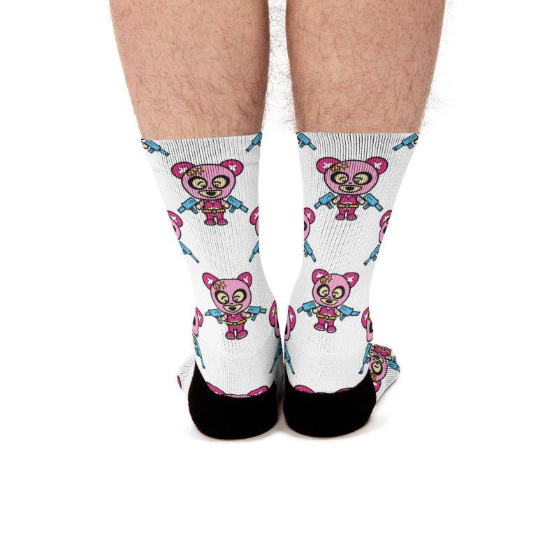 Wasteland Panda (girl) Men's Socks by The Yellowrant Artist Shop