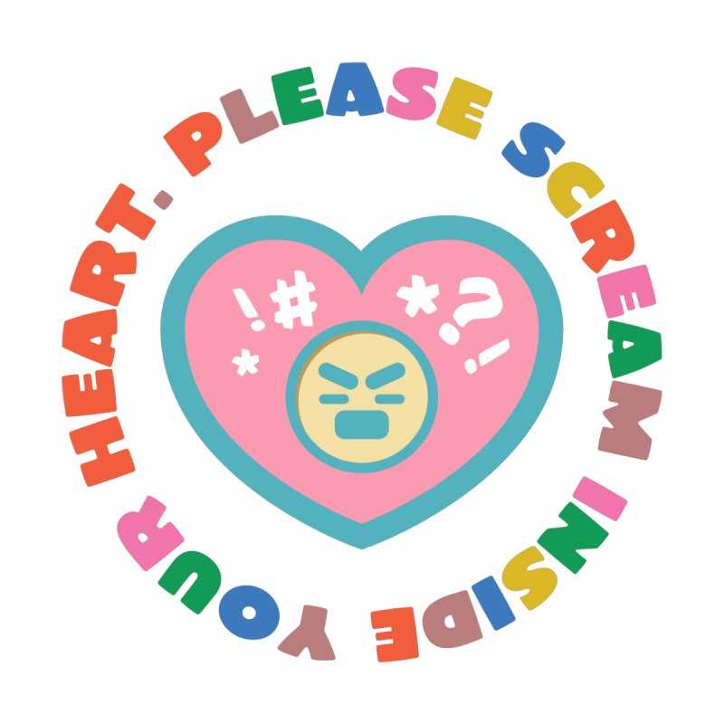 Heart Scream Accessories Face Mask by The Yellowrant Artist Shop