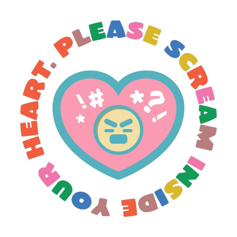 Heart Scream Men's Longsleeve T-Shirt by The Yellowrant Artist Shop