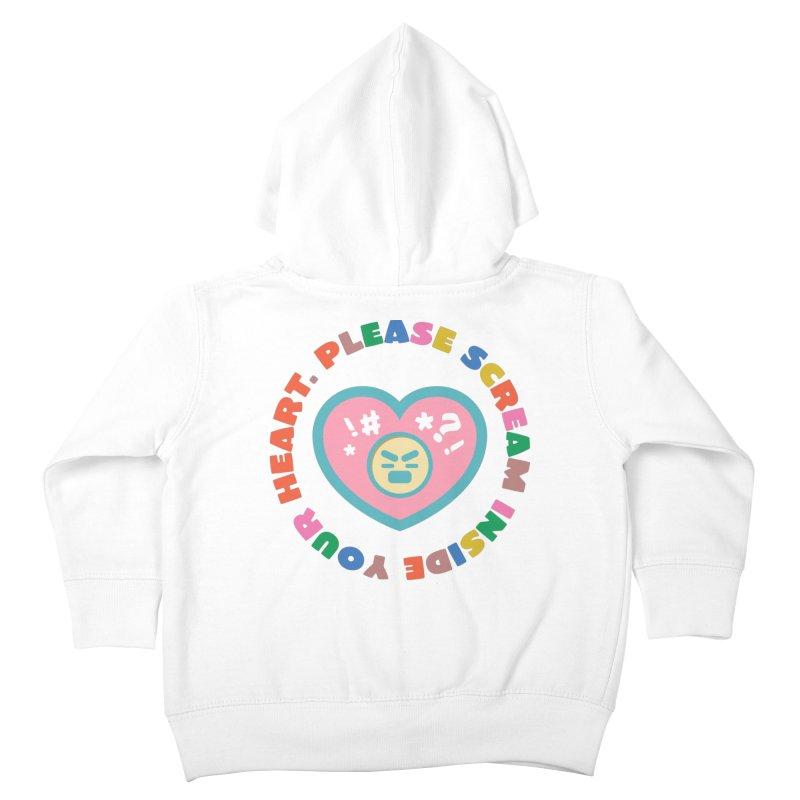 Heart Scream Kids Toddler Zip-Up Hoody by The Yellowrant Artist Shop