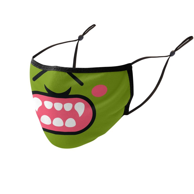 SMASH! Accessories Face Mask by The Yellowrant Artist Shop