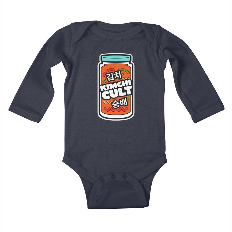 Kimchi Cult Kids Baby Longsleeve Bodysuit by The Yellowrant Artist Shop